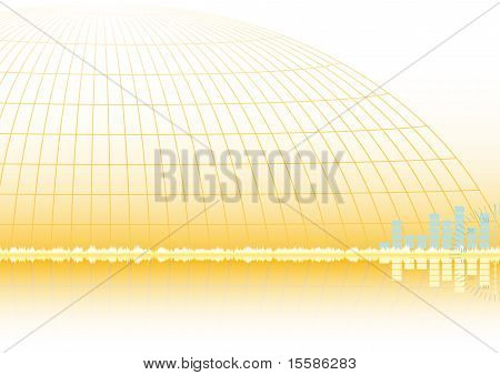 Abstract Golden Vector Background Eps8