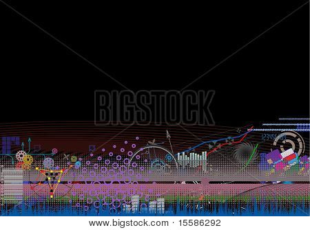 Dark Abstract Background - Vector Eps8