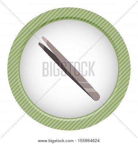 Metallic Tweezers Icon