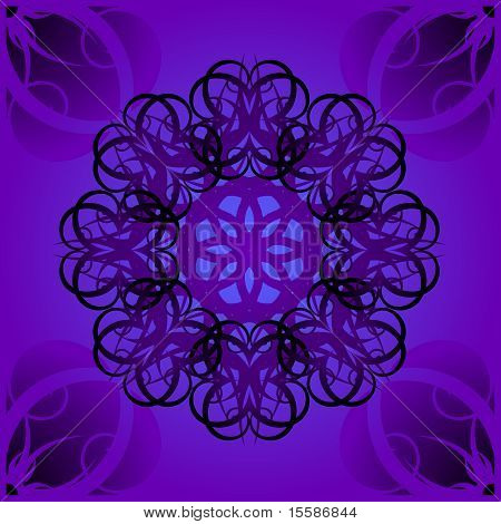 Swirly goth tile pattern