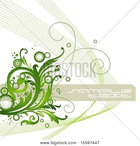 Abstract green background, flayer