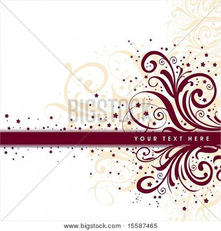 Abstract background with frame for text