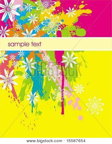 Manchas de color & flores & fama para texto