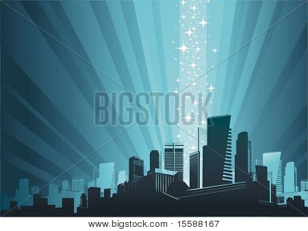 Cityscape & magic phenomenon
