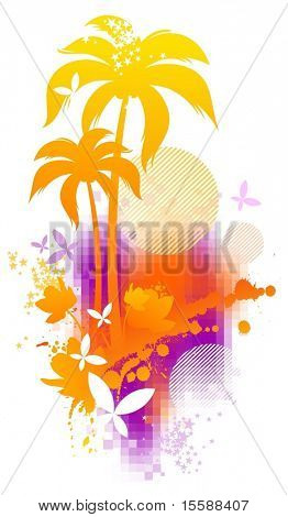 Abstract summer illustration