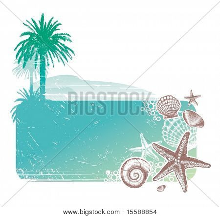 Tropical landscape & Inhabitants of the sea