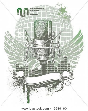 Heraldry with microphone