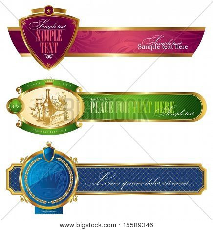 Framed golden luxury banners