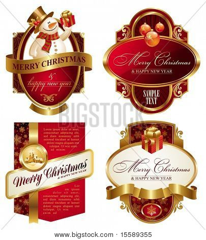 Christmas and new year luxury labels