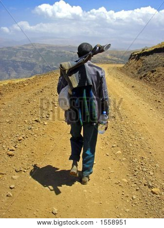 Light-Traveling Scout Of The Simiens, Ethiopia