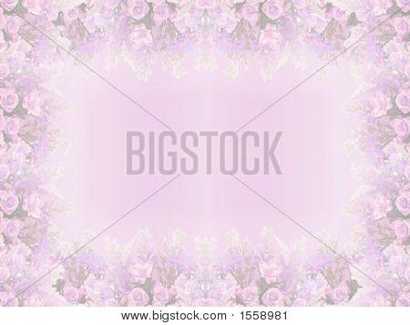 Elegant Lavender Floral Border