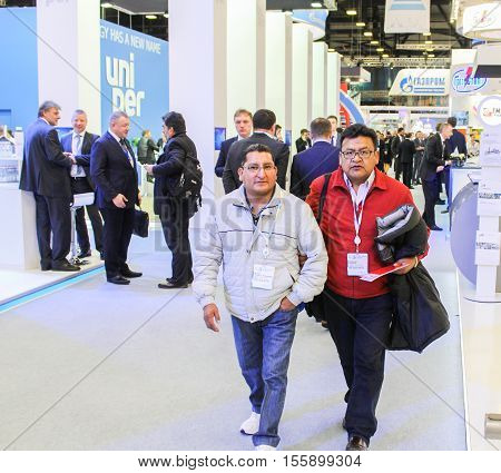 St. Petersburg, Russia - 4 October, Delegates from Latin America on the Gas Forum, 4 October, 2016. Petersburg Gas Forum which takes place in Expoforum.