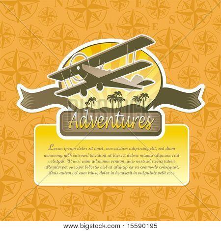 Vektor-Abenteuer und Reisen-emblem