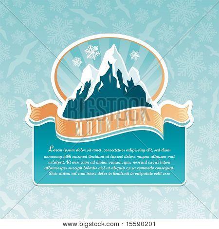 Emblema de Marco de montanha de vetor