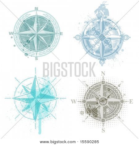 Four vector compass rose