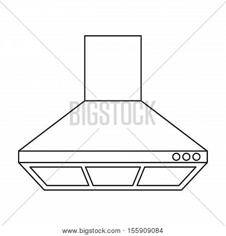 Exhaust hood icon in outline style isolated on white background. Kitchen symbol vector illustration.