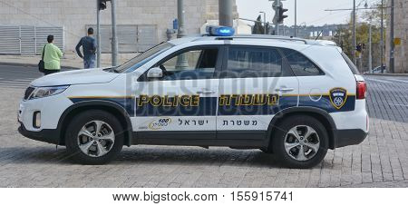 JERUSALEM ISRAEL 25 10 16: The Israel Police is the civilian police force of Israel, its duties include crime fighting, traffic control, maintaining public safety, and counter-terrorism.