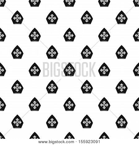 Christian hat pattern. Simple illustration of christian hat vector pattern for web
