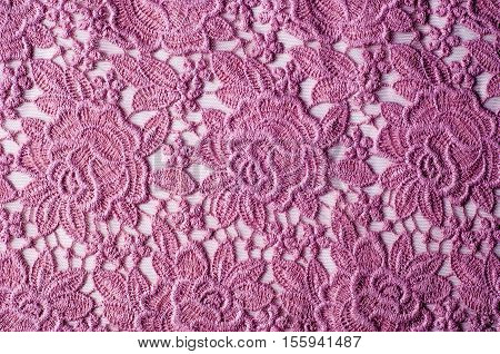 Texture, Background Fabric Pink Lace