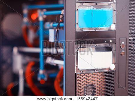 Inside High Performance Workstation Computer Background