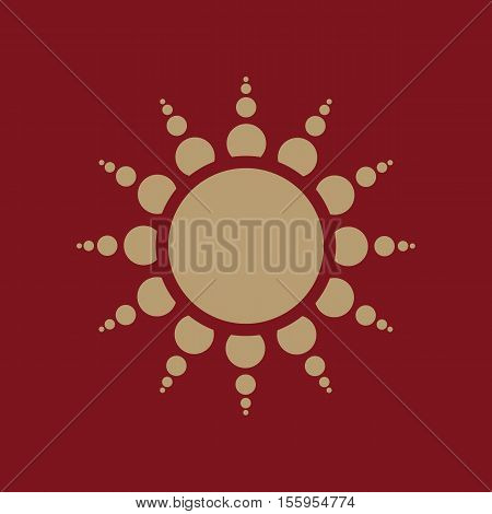 The sunrise icon. Sunrise and sunshine, weather, sun symbol. UI. Web. Logo. Sign Flat design App Stock vector