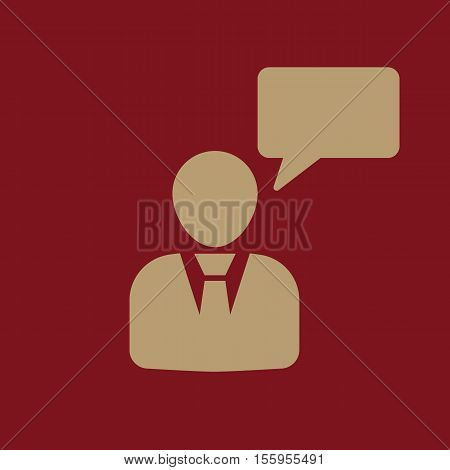 The message icon. Talking and communication, message, speak, speaking people symbol. UI. Web. Logo Sign Flat design App Stock vector