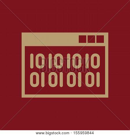 The web code icon. WWW and browser, development, seo, web code symbol. UI. Web. Logo. Sign Flat design App Stock vector