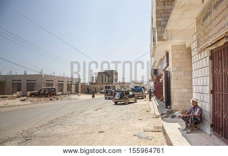 Hadibo Socotra Yemen May 13th 2014: people at the streets on Hadibo