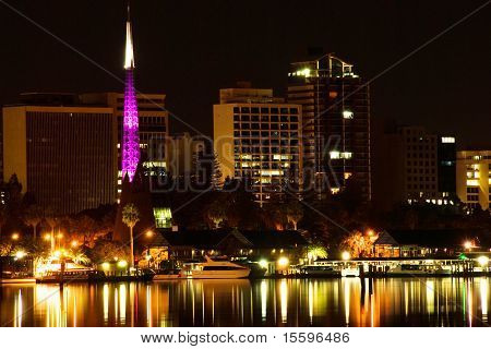 View of Perth Western Australia at night