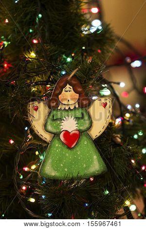 Christmas tree toys angel. christmas decoration handmade toy Angel