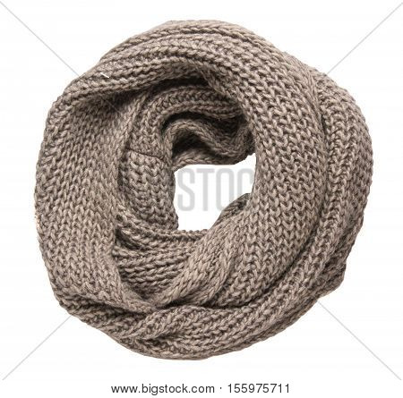 Scarf Isolated On White Background.scraf Top View