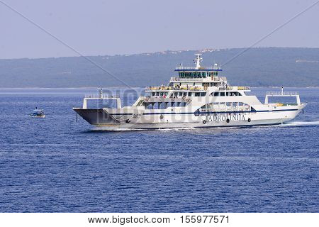 Ferry Boat Ilovik On Regular Route