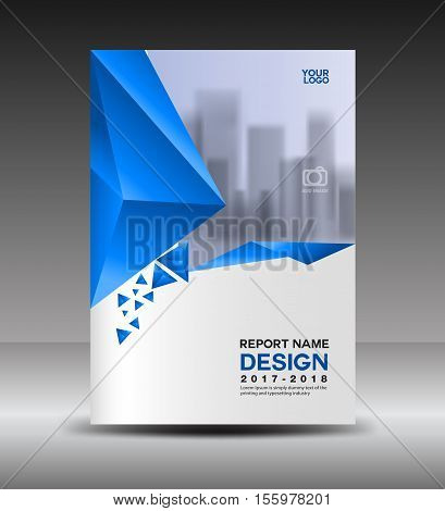Cover design Annual report vector illustration, business brochure flyer template, book cover, blue cover advertisement template, magazine ads