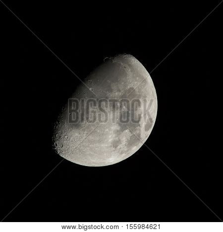 Gibbous Waxing Moon on November 10th 2016 in Northern Hemisphere