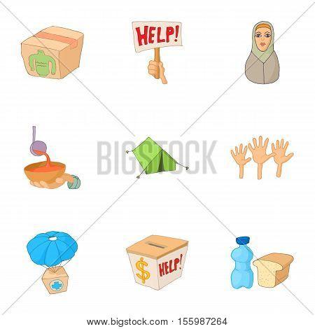 People fugitives icons set. Cartoon illustration of 9 people fugitives vector icons for web