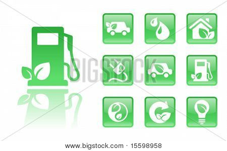 10green eco icons; see also Images  ID: 18405190 , 18405199 ,   18405193