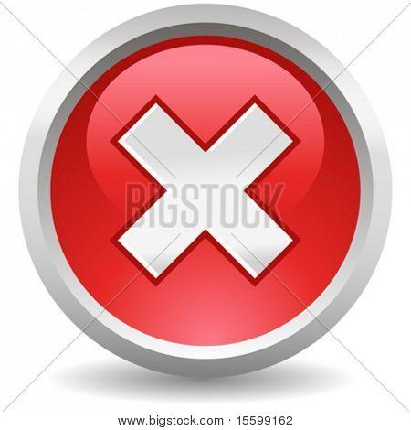 vector red delete button