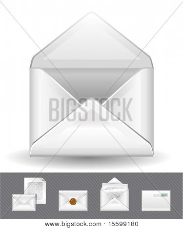 5 mail icons, see also images ID: 20312860, 20312857, 19902598