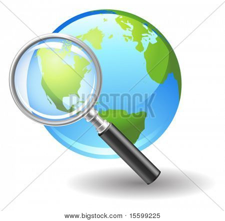 Vector icono búsqueda en internet