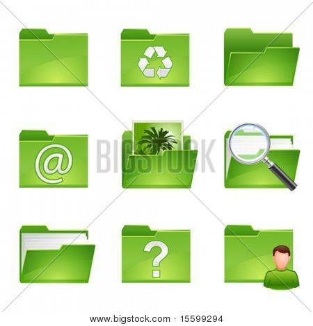 vector green icons set3
