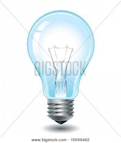 Realistische Vektor-Glühbirne