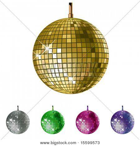 vector disco balls