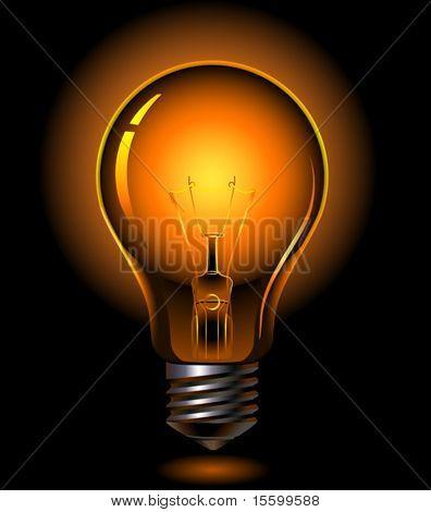 bombilla de vector es iluminación