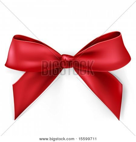 vector red satin bow
