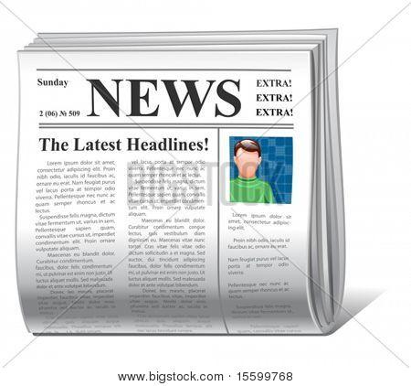 Portada del icono de noticias Vector
