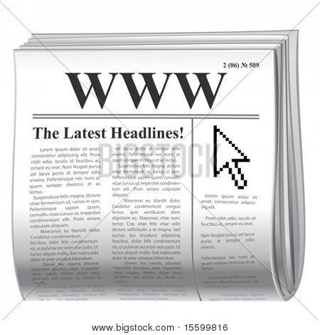 ícone de notícias do vetor inet
