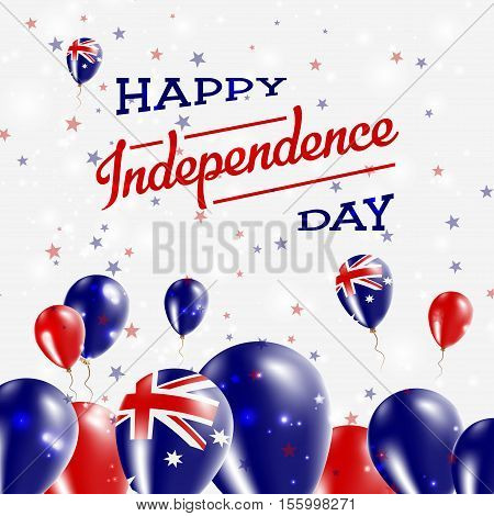 Australia Independence Day Patriotic Design. Balloons In National Colors Of The Country. Happy Indep