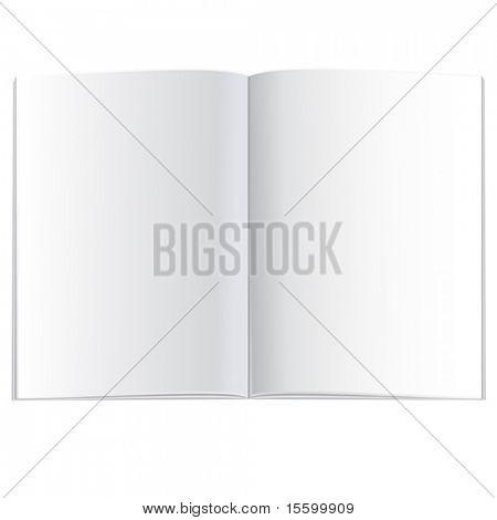 vector opened empty book (plan view)