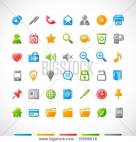 vector web icons set