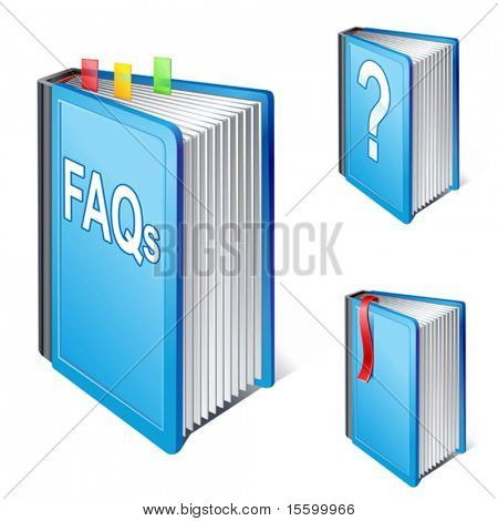VECTOR Frequently Asked Questions Book Icon